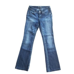 SILVER SUKI Low Rise BootCut Med Wash Size 25/28